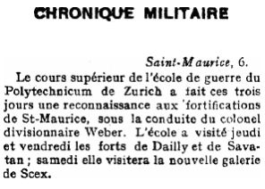 12 Visite de l'école de guerre (1914)