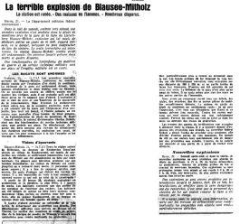 21 l'explosion de Mitholz 1947