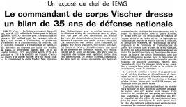 26 Exposé du Chef de l'EMG (1973)