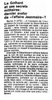 29 Secrets militaires et tunnel autoroutier du Gothard (1980)