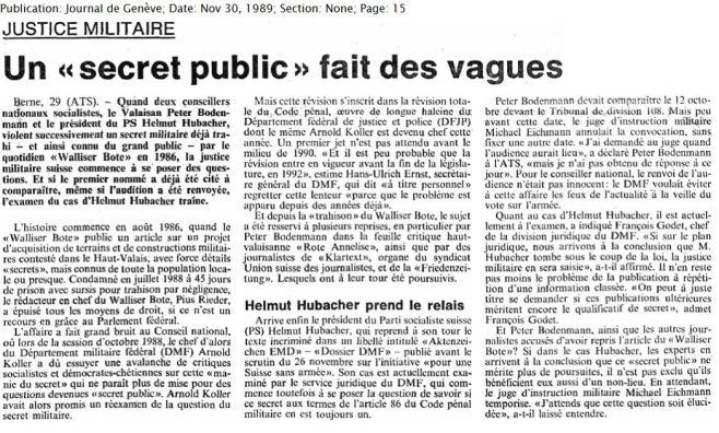 30.2 un ''secret public'' fait des vagues 1989