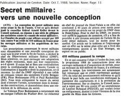 30 Secret militaire vers une nouvelle conception 1988