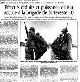 36 A 95, la fin du régiment de forteresse 19 (1994)
