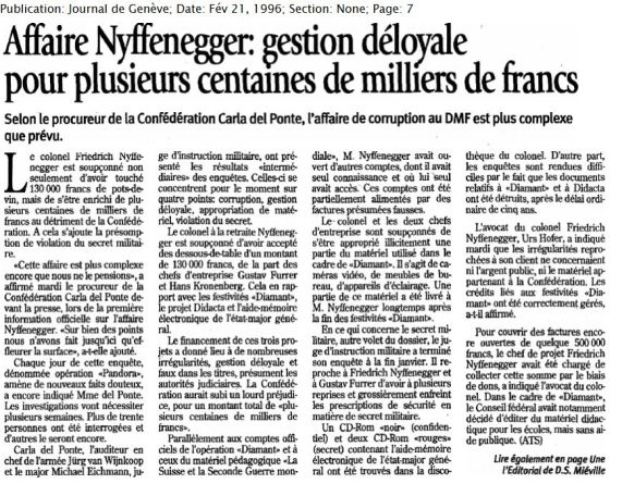 37.1 Affaire Nyffenegger (1996)