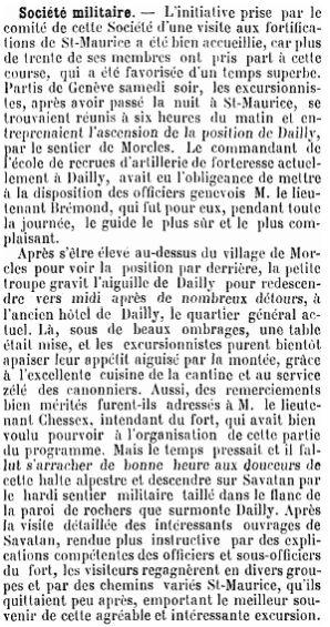 5 Visite des forts de Savatan-Dailly (1894)